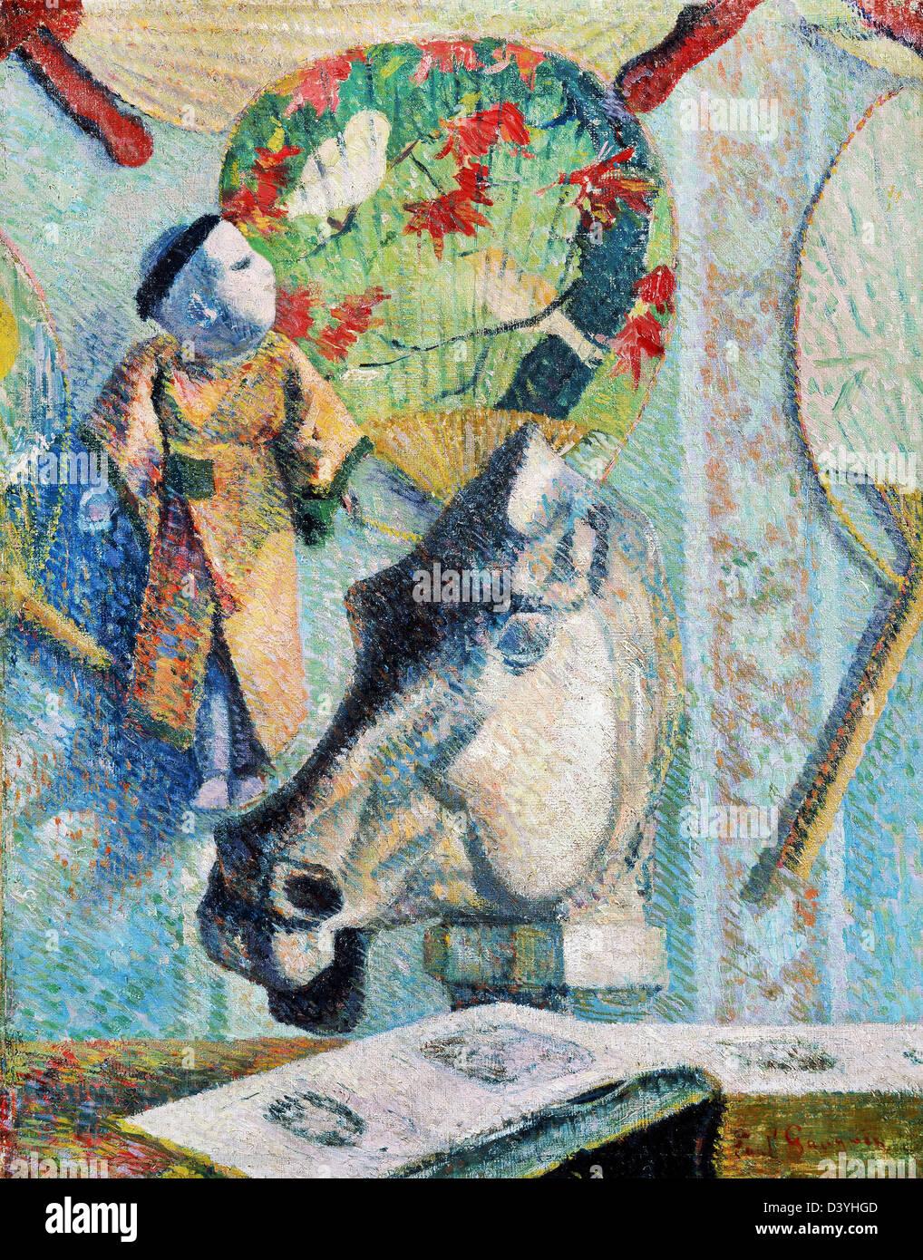 Paul Gauguin, Horse's Head 1886 Oil on canvas. Bridgestone Museum of Art, Tokyo - Stock Image