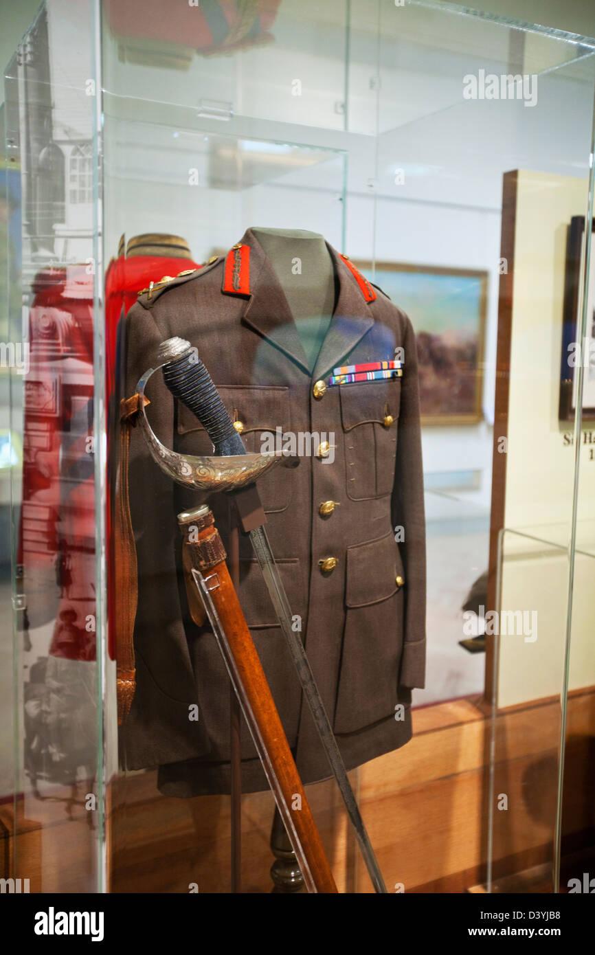 War memorabilia on display in the Australian War Memorial. Canberra, Australian Capital Territory, Australia - Stock Image