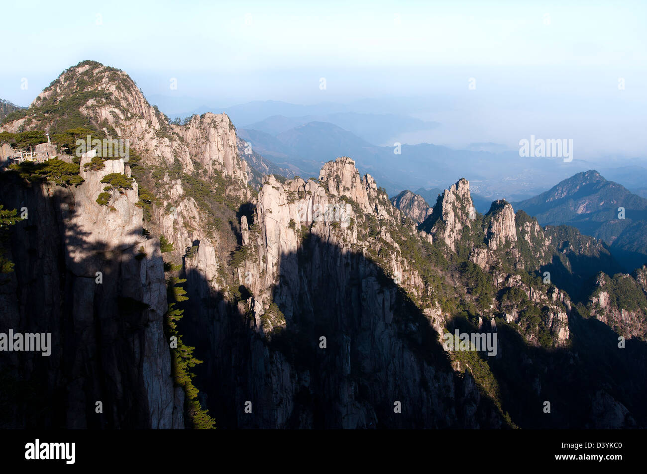 View from Beginning to Believe Peak, Huangshan, China - Stock Image