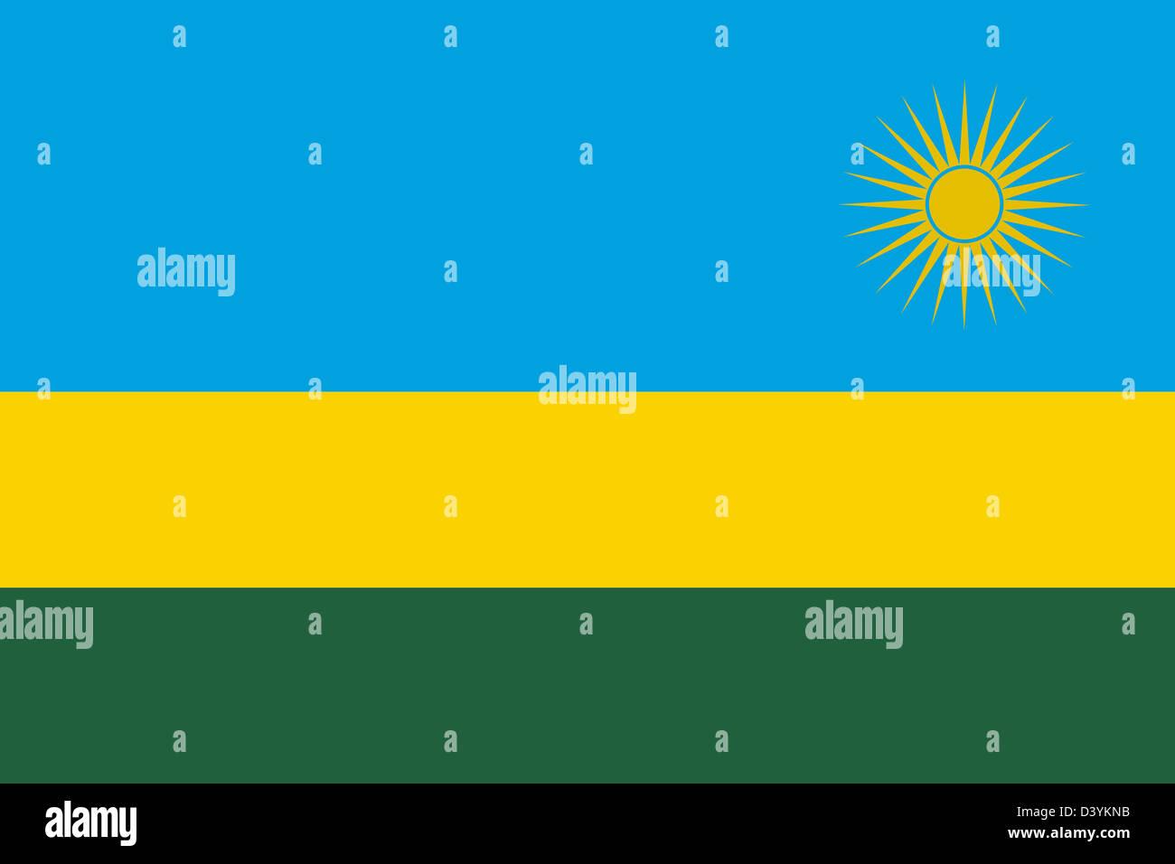 National Flag Of Rwanda Country World Rwanda Background