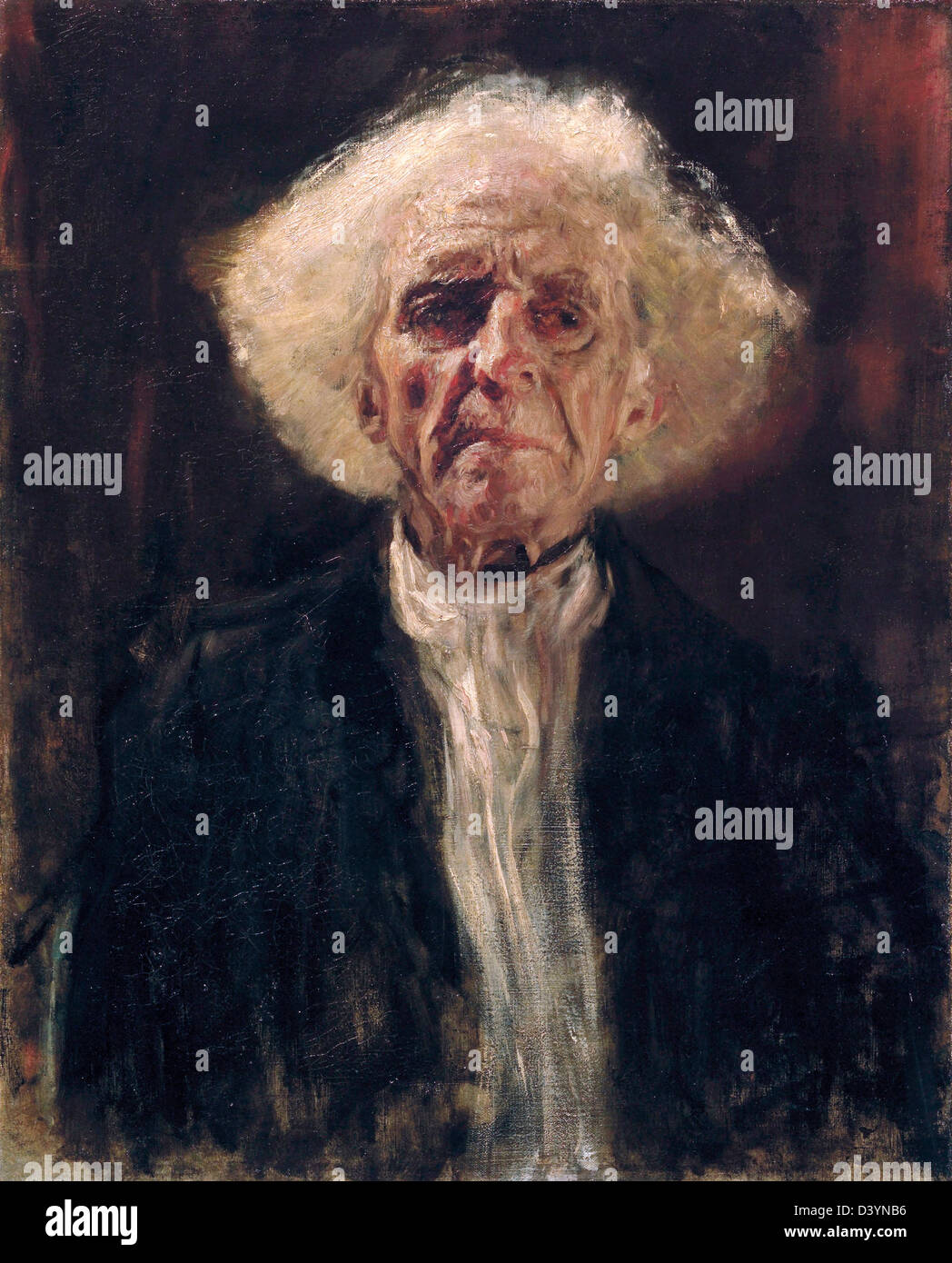 Gustav Klimt, Blind Man 1896 Oil on canvas. Leopold Museum, Vienna, Austria - Stock Image