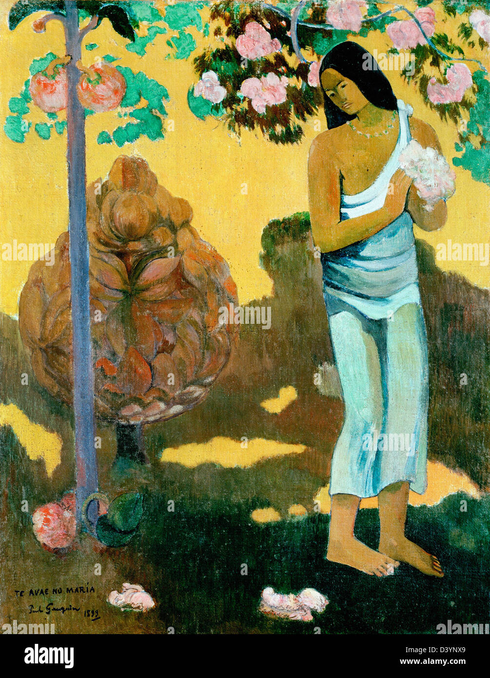 Paul Gauguin, The Month of Mary 1899 Oil on canvas. Hermitage, St. Petersburg, Russia - Stock Image