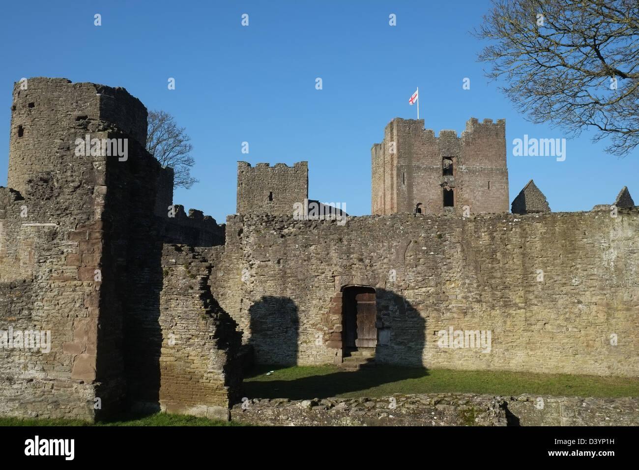 Ludlow Castle, Ludlow, Shropshire, England, Britain - Stock Image