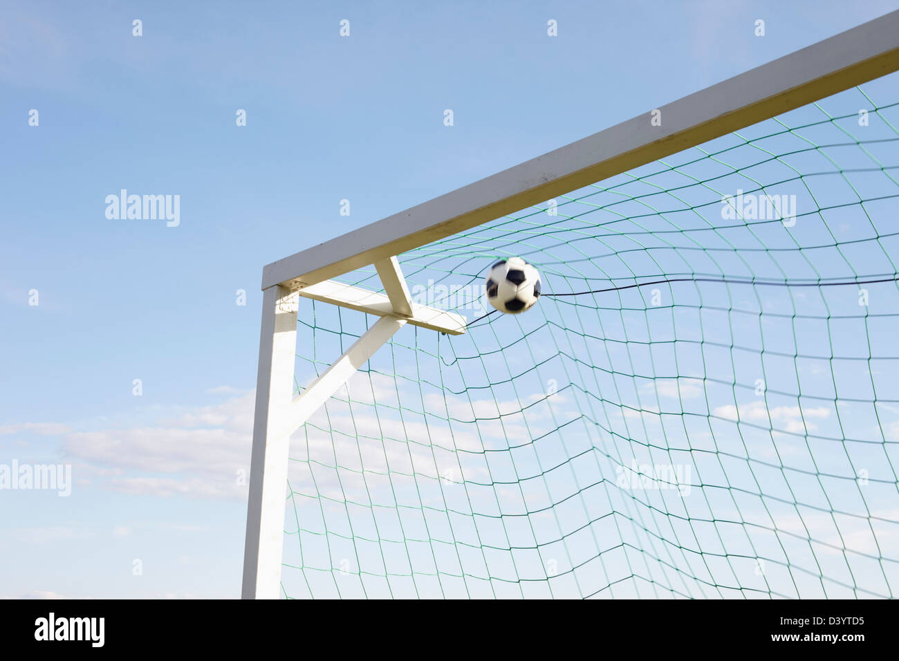 Soccer Net And Soccer Ball Lysekil Vastra Gotaland County Stock Photo Alamy