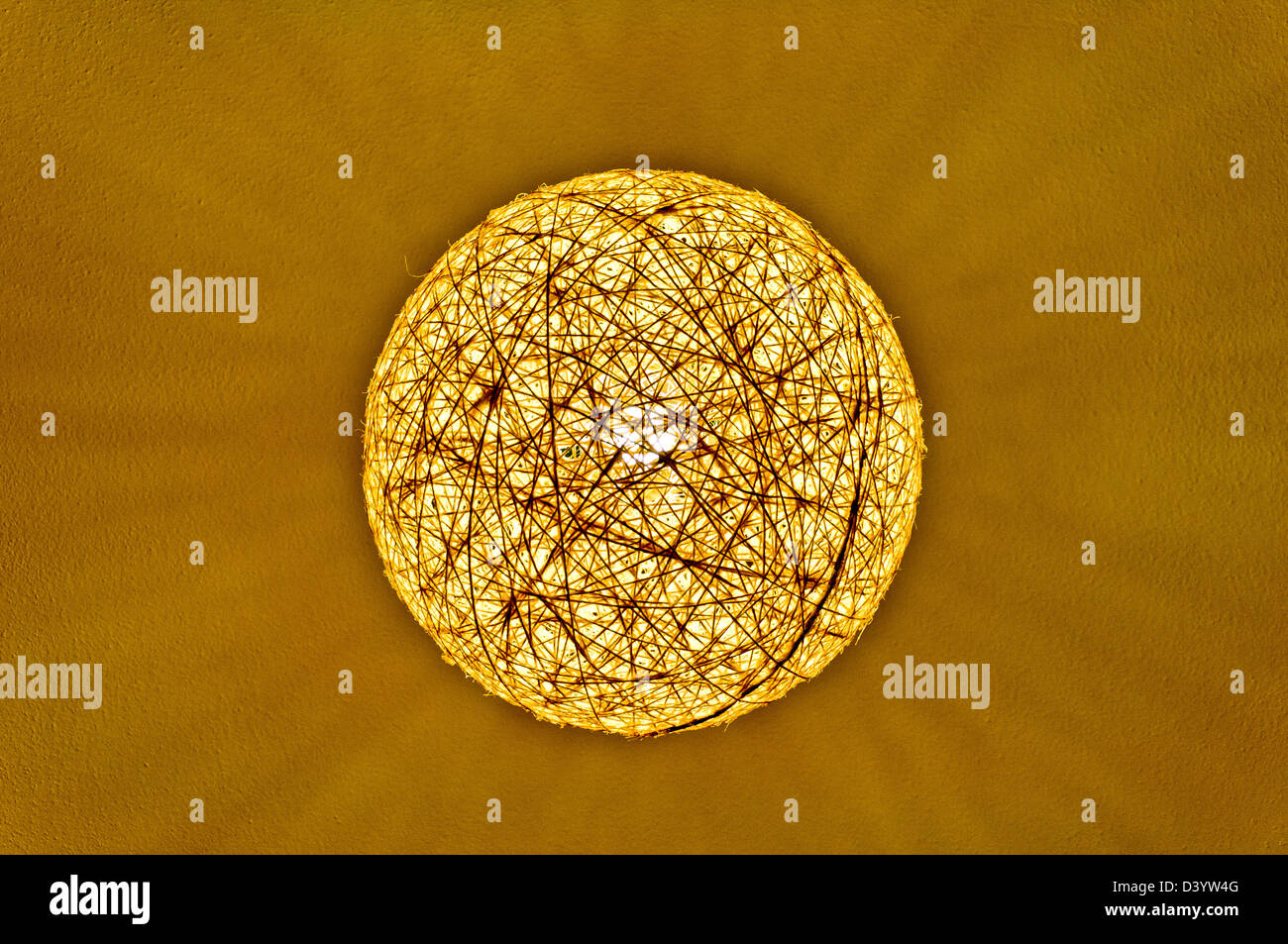 string ball lamp abstraction - Stock Image