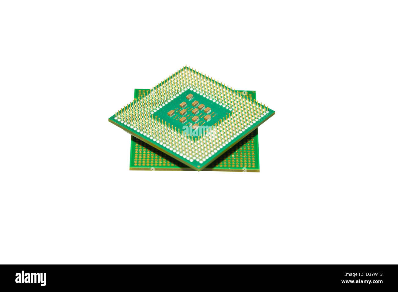 Different processors for the computer on a white background - Stock Image