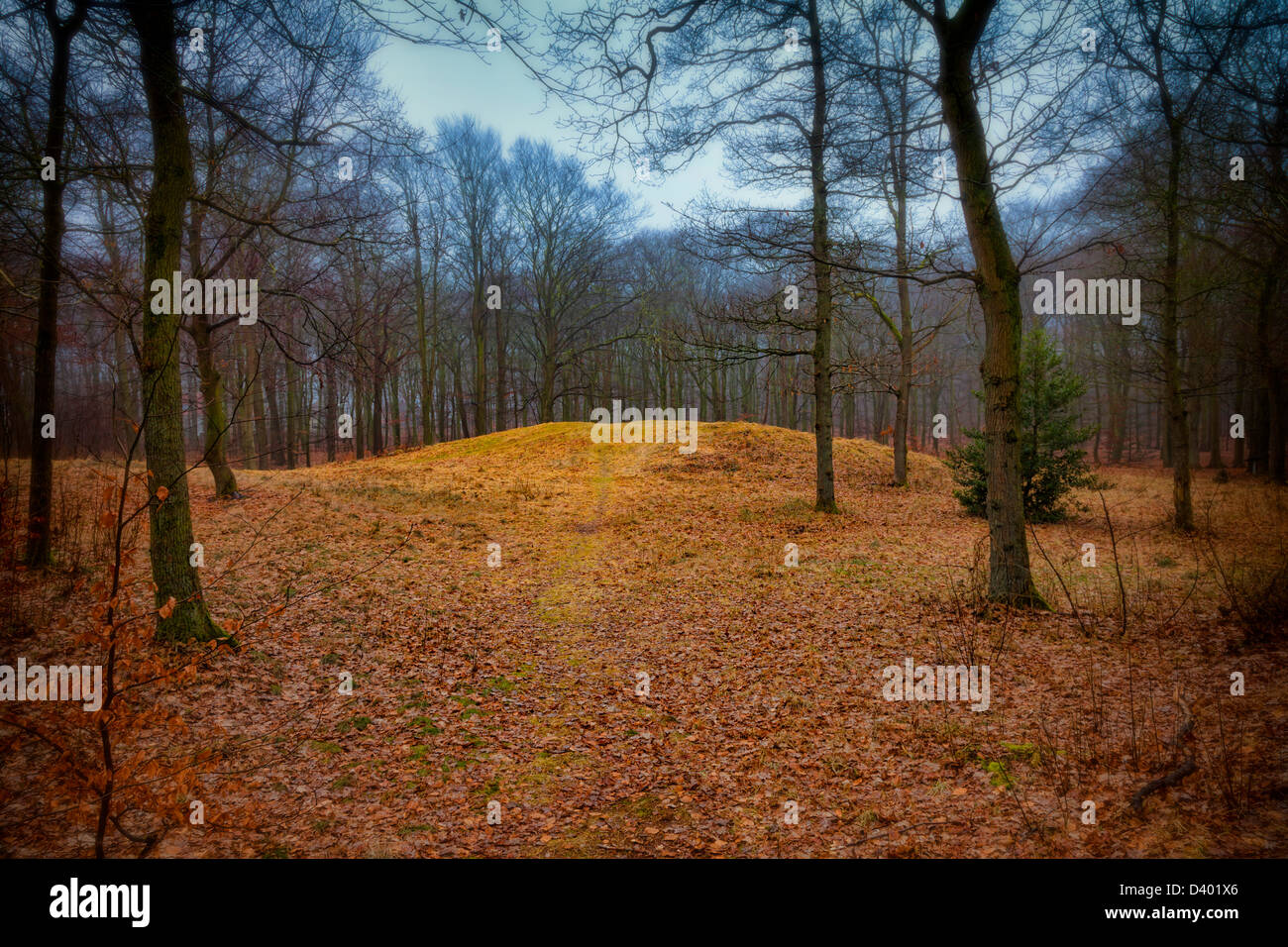 Gallows hill in Ribe, Denmark where the last witch in the country was burned - Stock Image