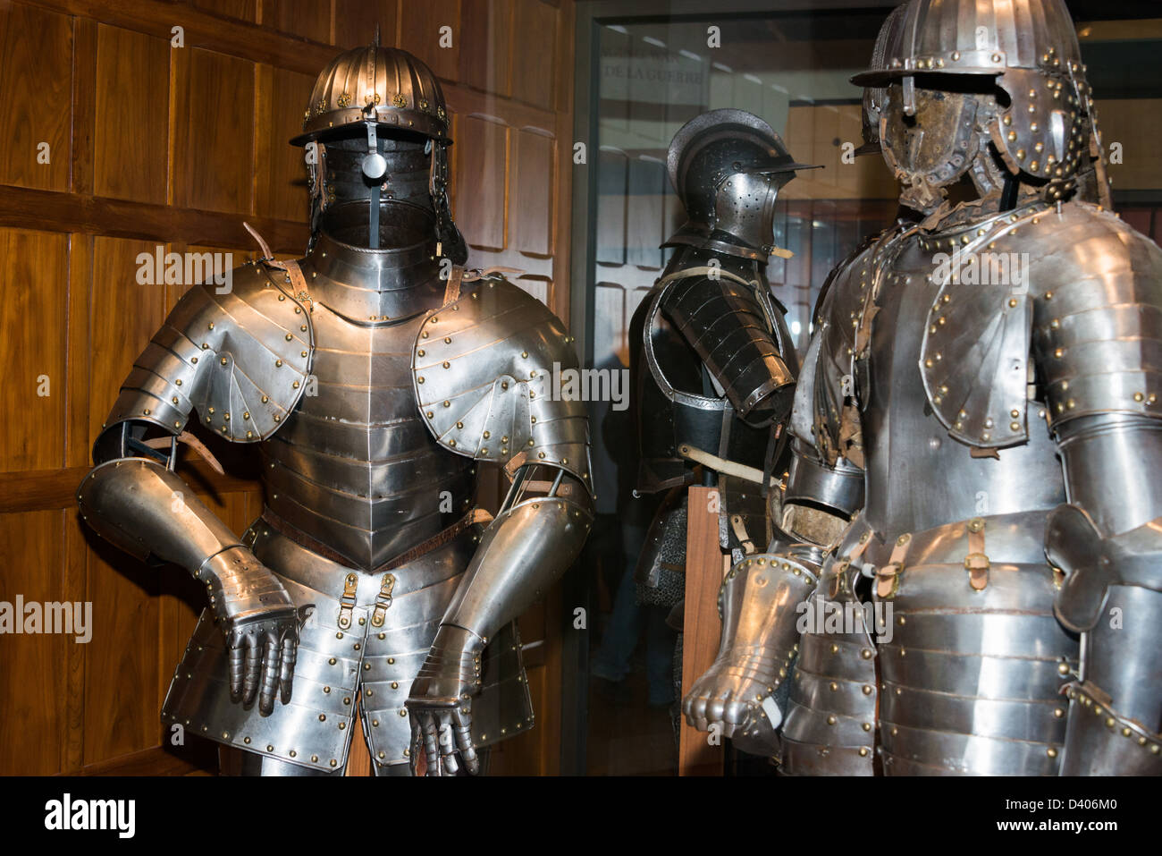 medieval suit armor on display stock photos medieval suit armor on