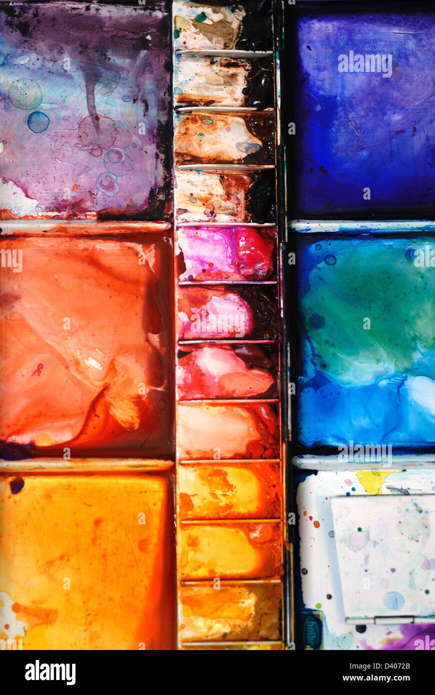 Artists Water Colour Palette Stock Photo 54095283 Alamy