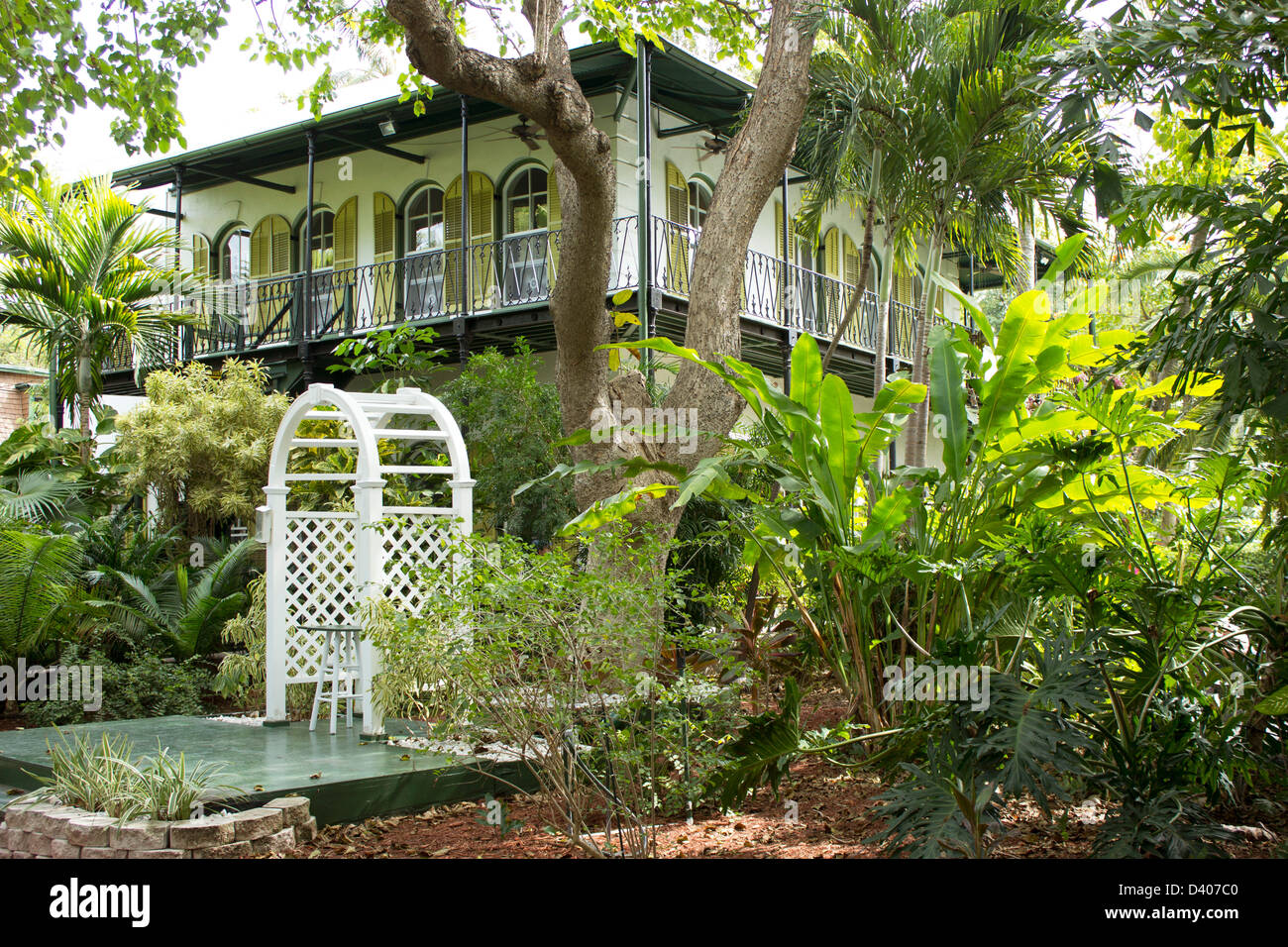Ernest Hemingway House And Gardens. Key West, Florida.