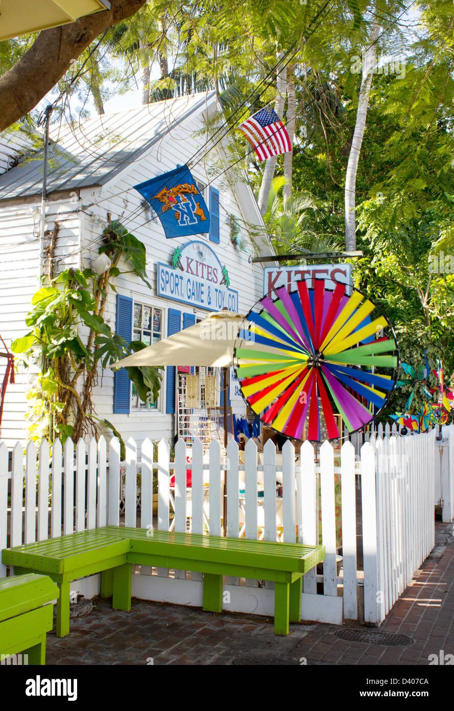 Key West kite shop. - Stock Image