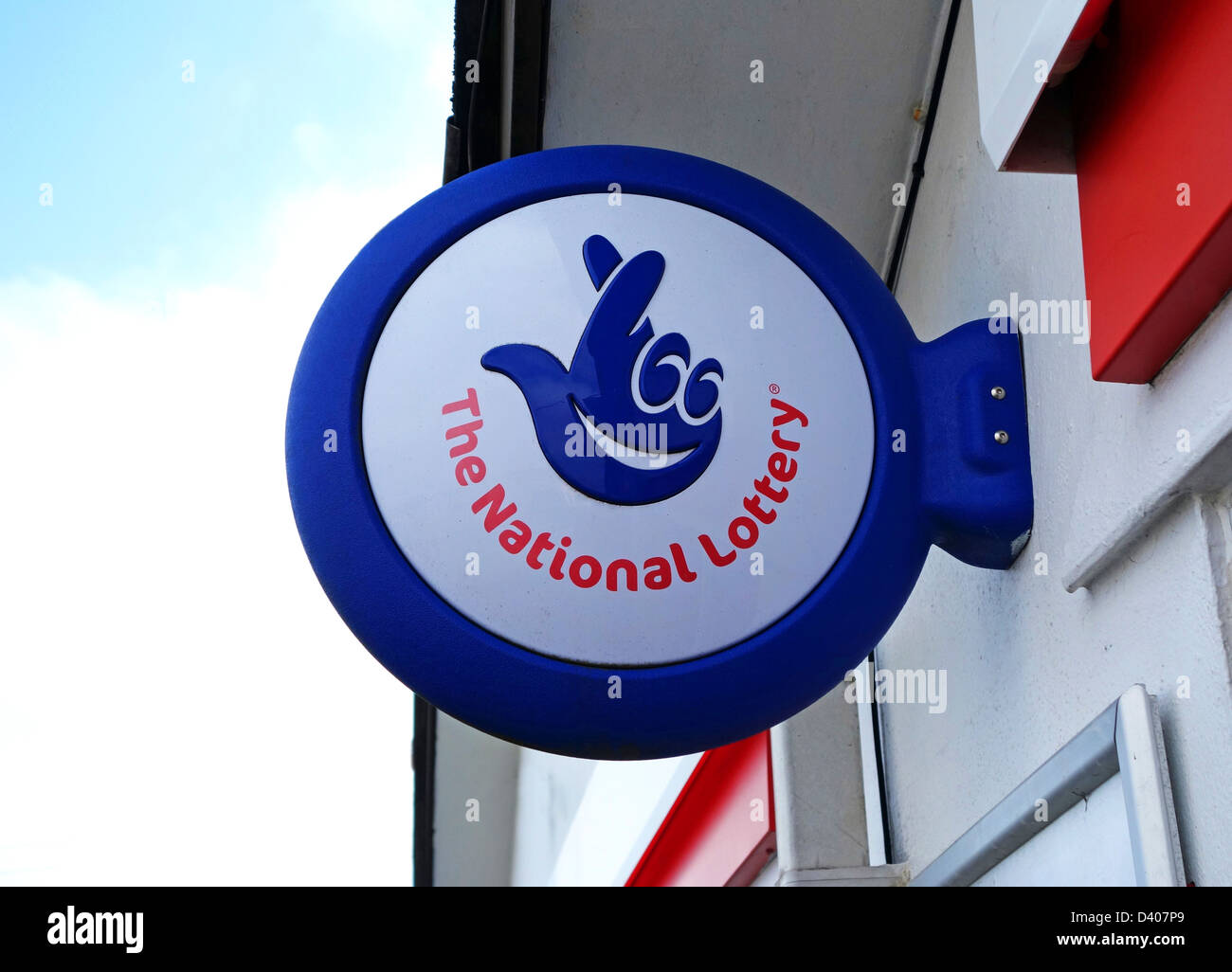 The National Lottery sign - Stock Image