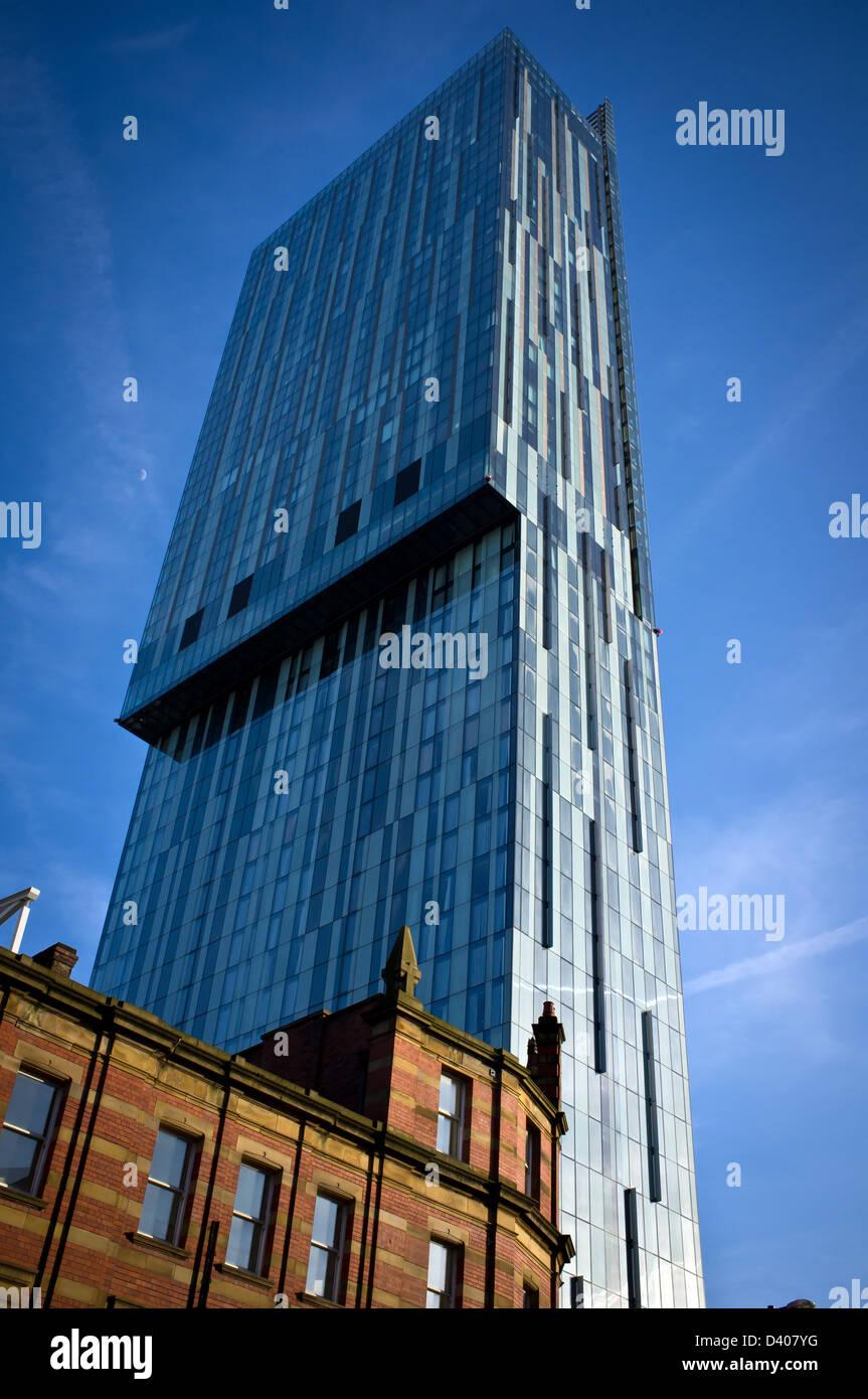Manchester Hilton Hotel Beetham Tower - Stock Image