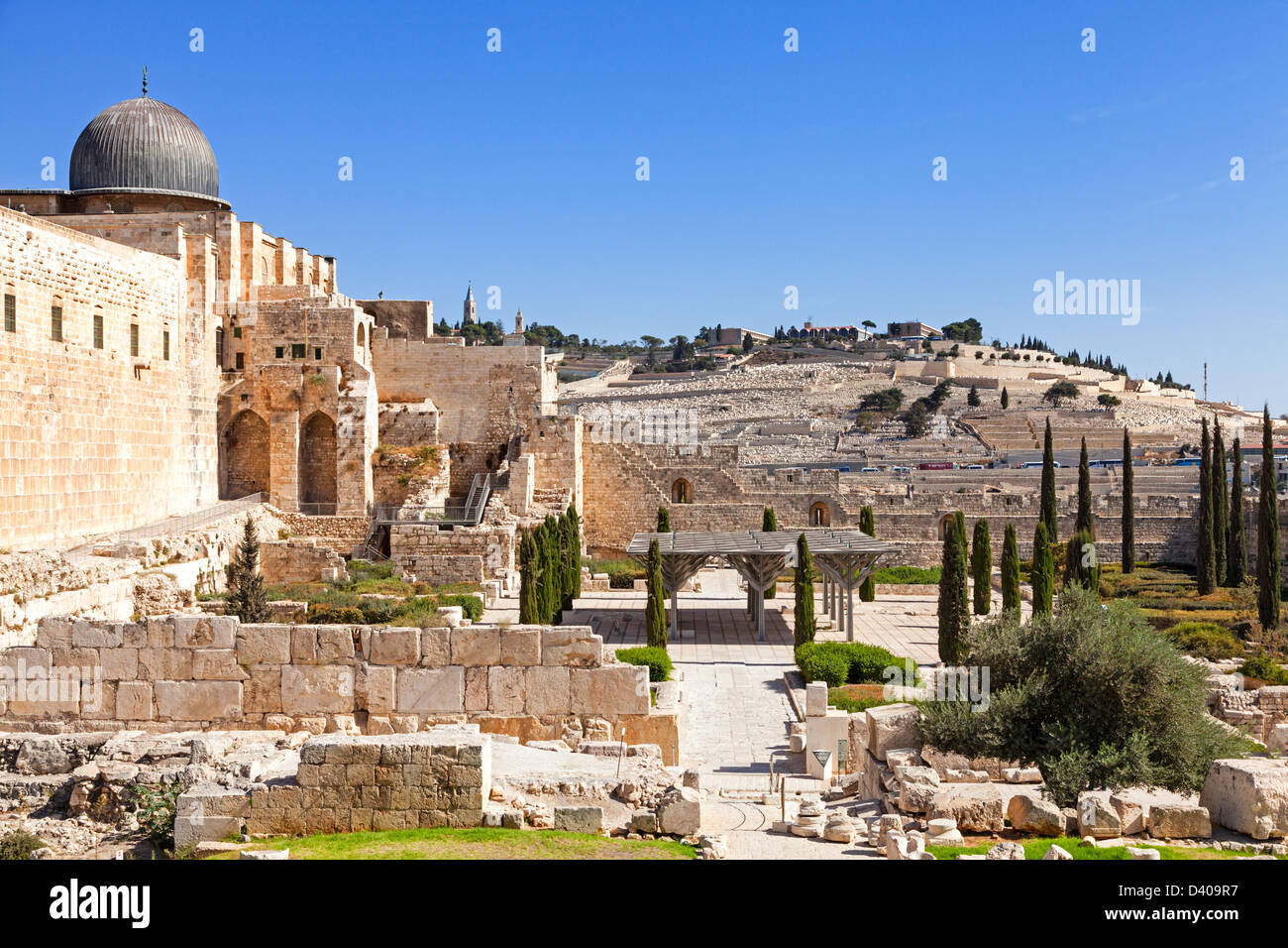 City wall of Jerusalem Stock Photo