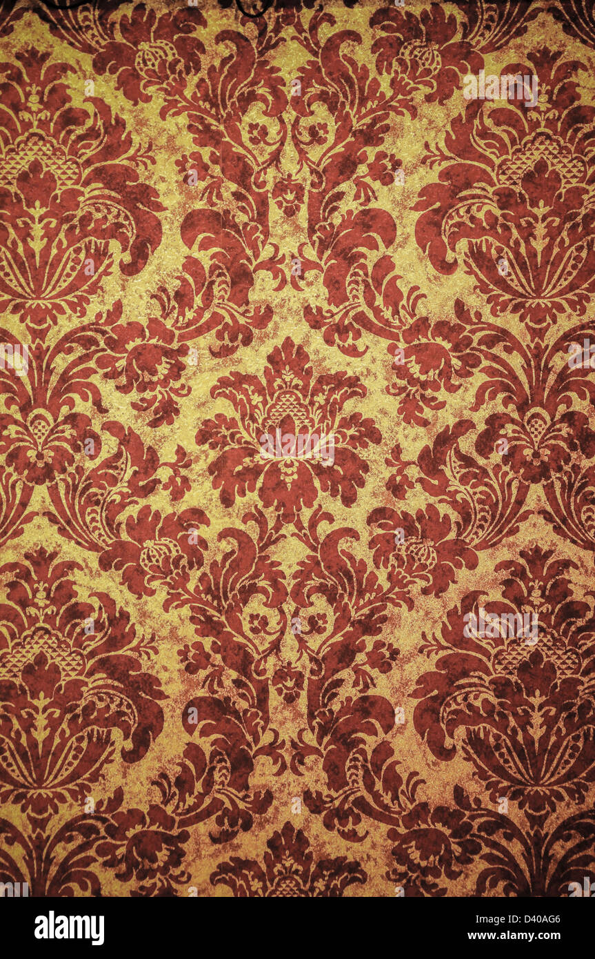 Wallpaper With Rococo Style Pattern