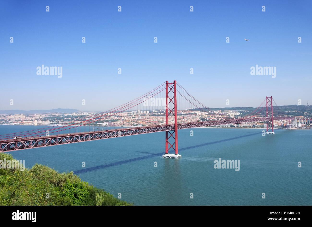 Lissabon Bruecke - Lisbon bridge 02 - Stock Image