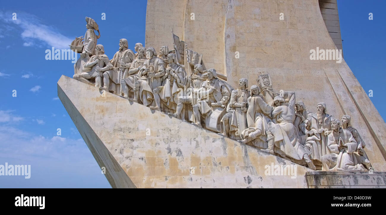 Lissabon Denkmal der Entdeckungen - Lisbon Monument to the Discoveries 04 - Stock Image