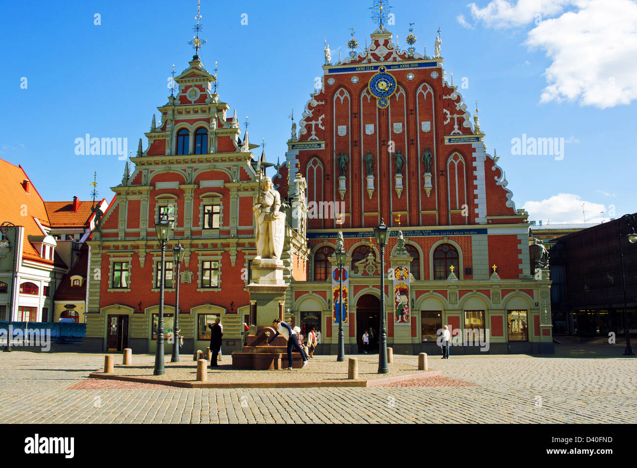 Old house of the blackheads in Riga. Latvia - Stock Image