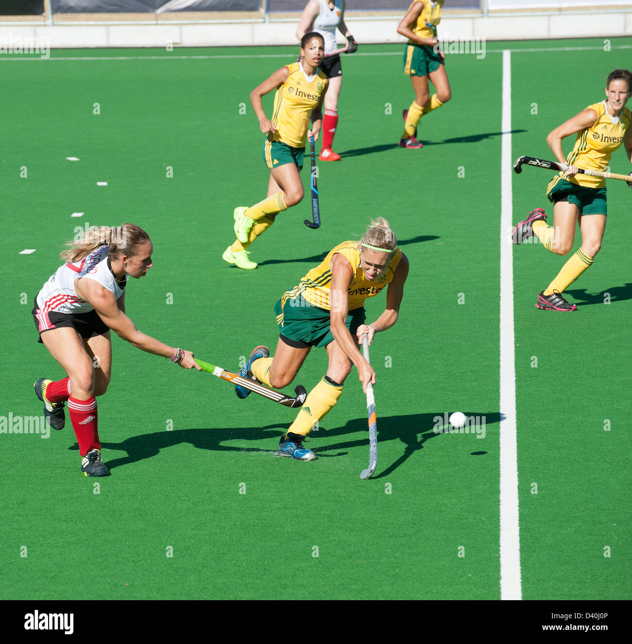 South Africa v England Ladies hockey match at Hartleyvale Stadium Cape Town SA England's Susannah Townsend in - Stock Image