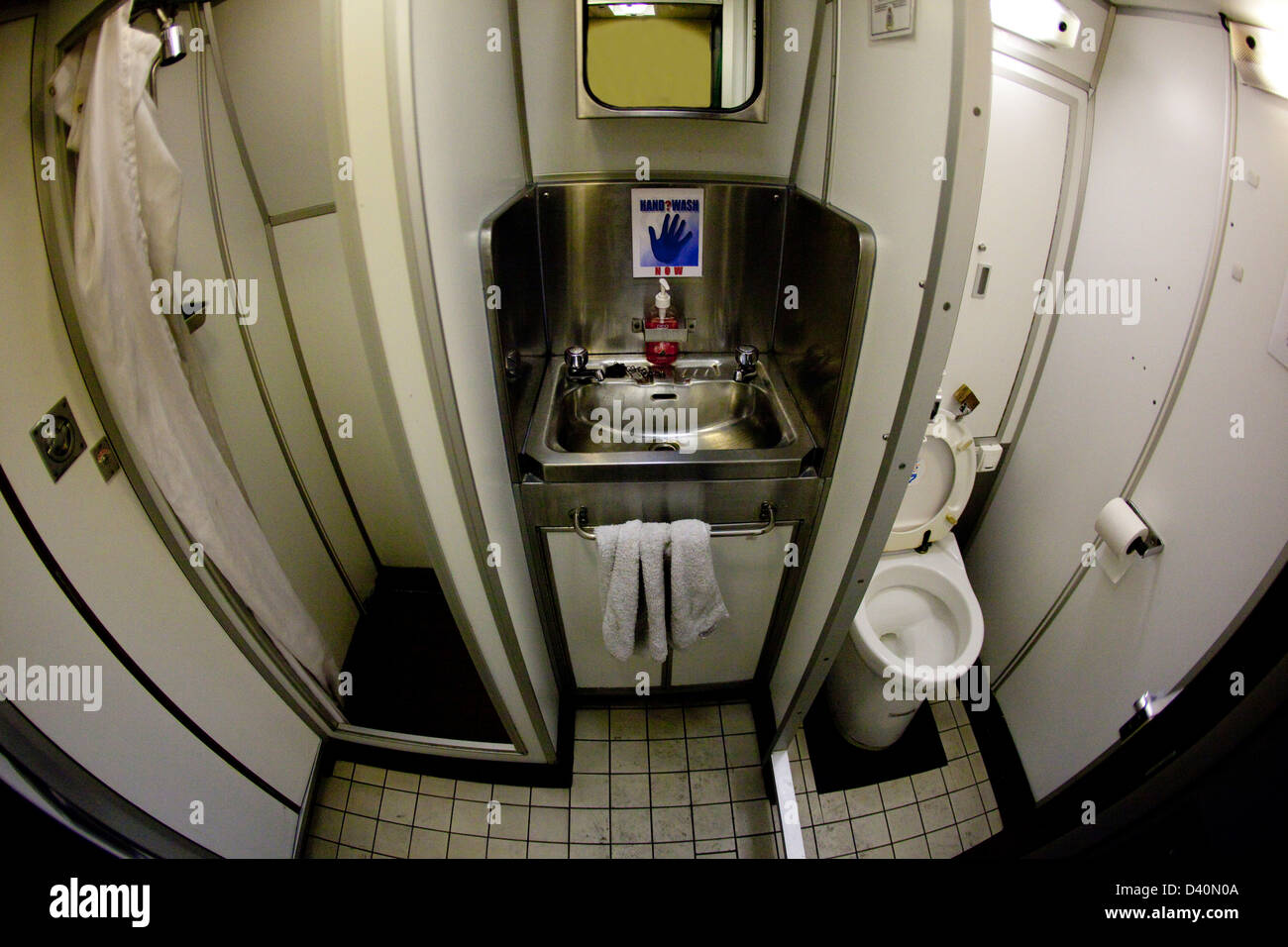 Washroom In Nuclear Submarine Hms Talent Stock Photo