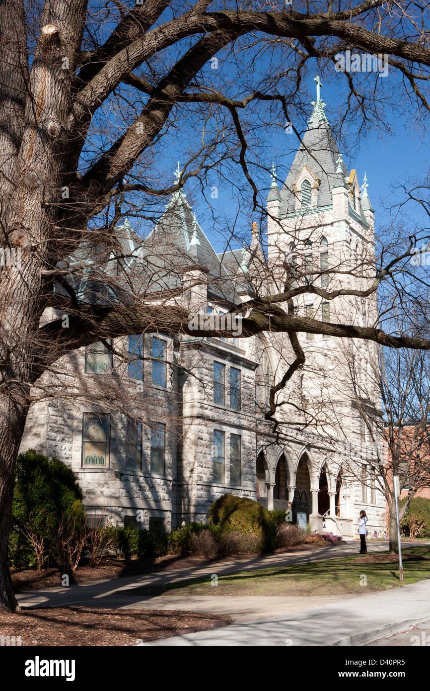 Central United Methodist Church - Asheville, North Carolina - Stock Image