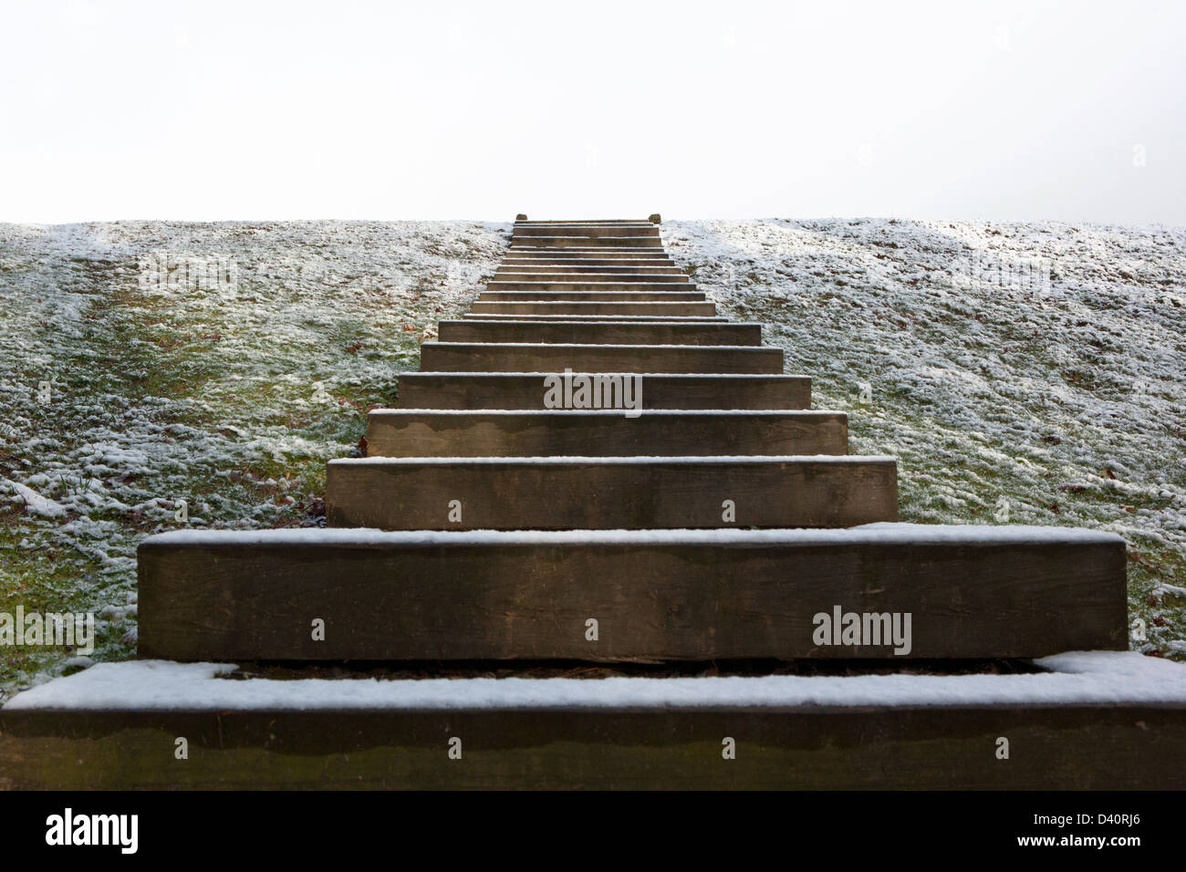 Staircase to Nowhere - Brevard, North Carolina - Stock Image