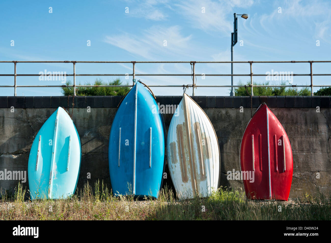 Colorful Boats at Southend, Essex, UK - Stock Image