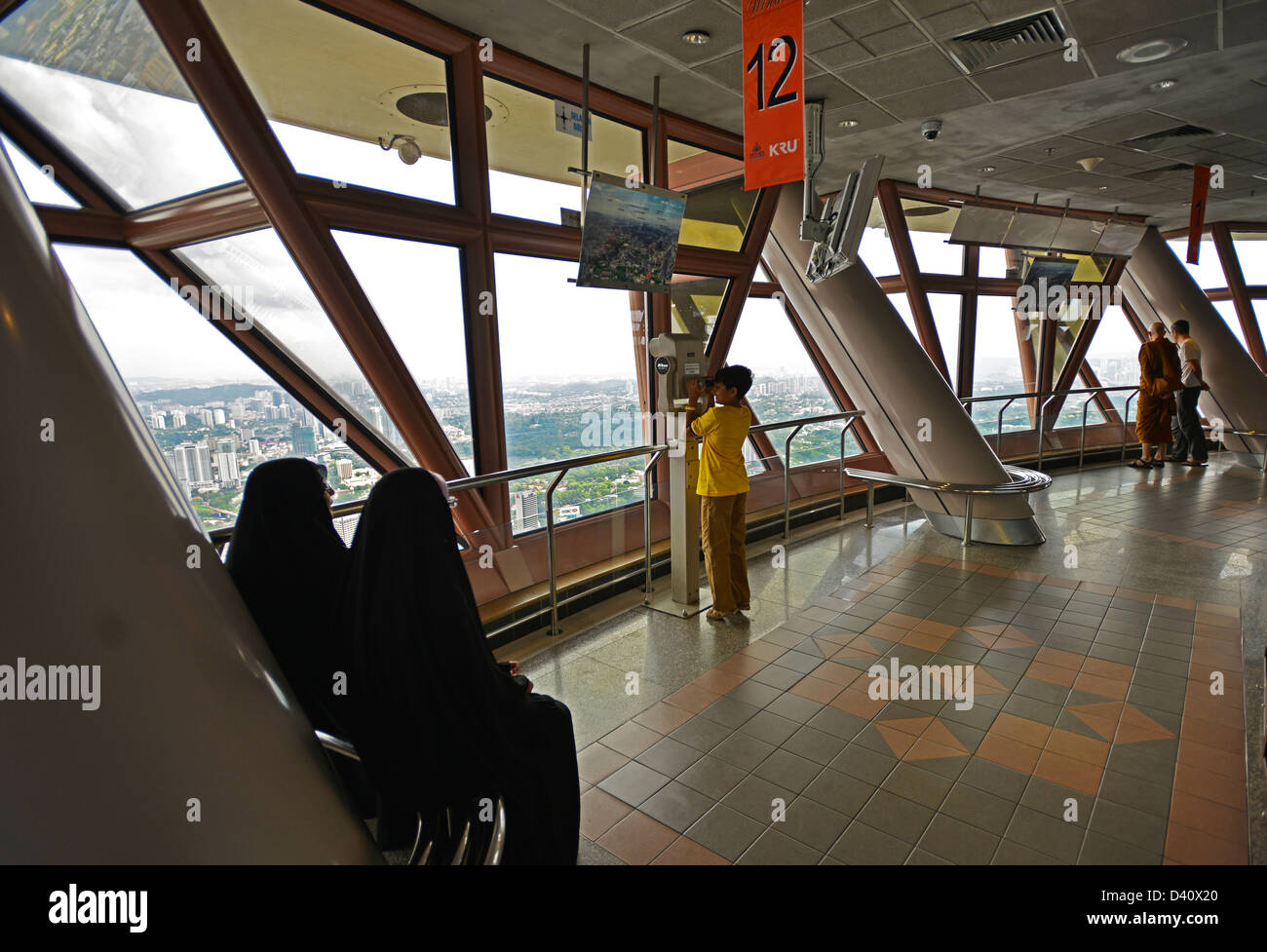 Asia Malaysia Kuala Lumpur KL Menara Tower - Stock Image