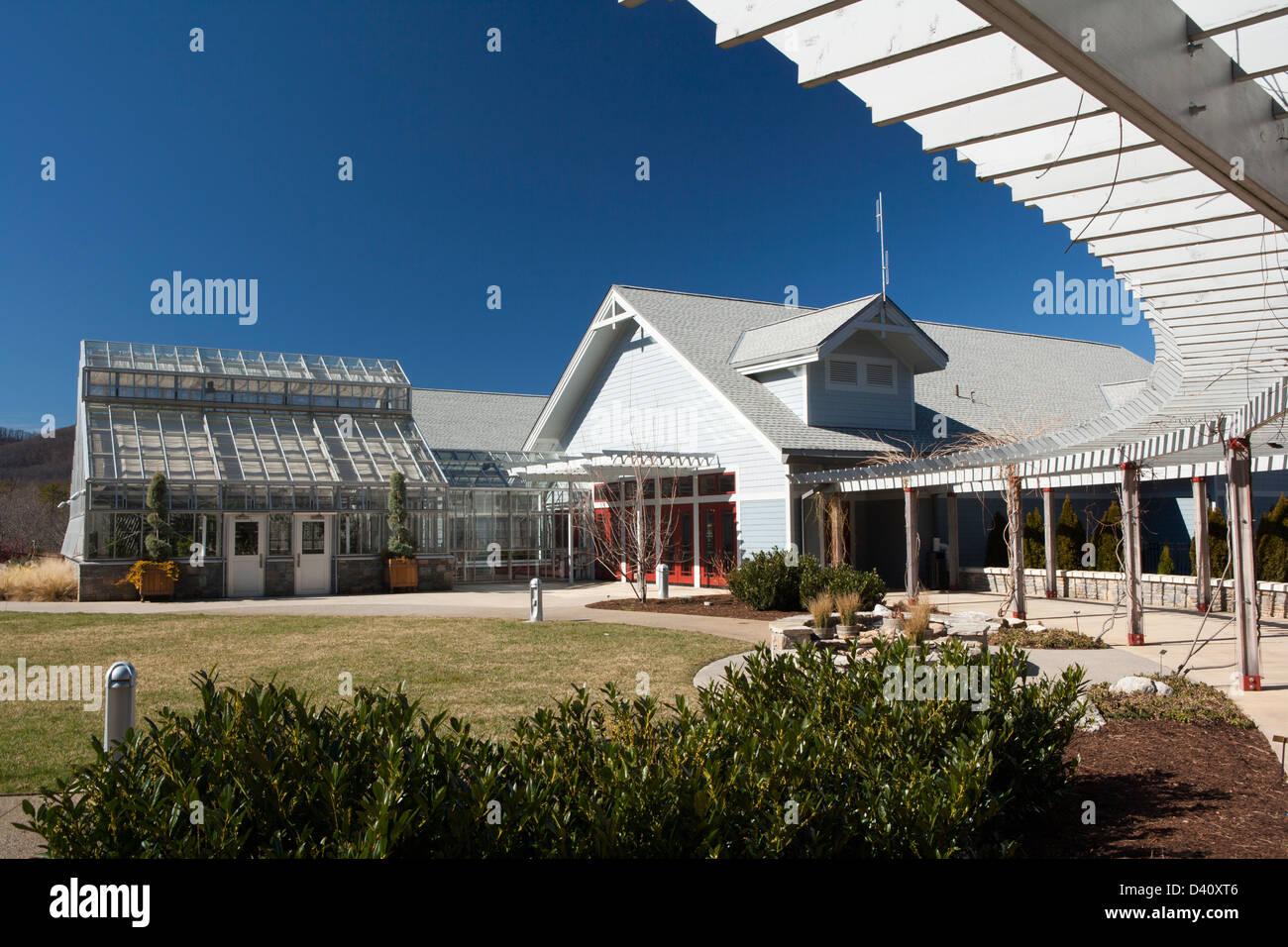 Visitor's Center at the North Carolina Arboretum - Asheville, North Carolina USA Stock Photo