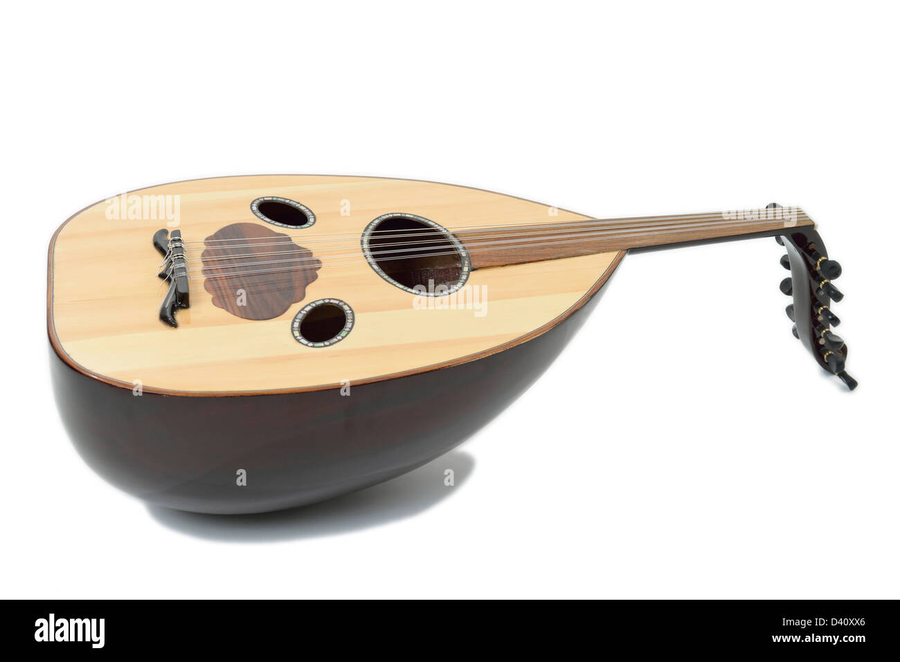An Oud - an Arabic / Turkish / Hebrew / Eastern Lute musical instrument - Stock Image