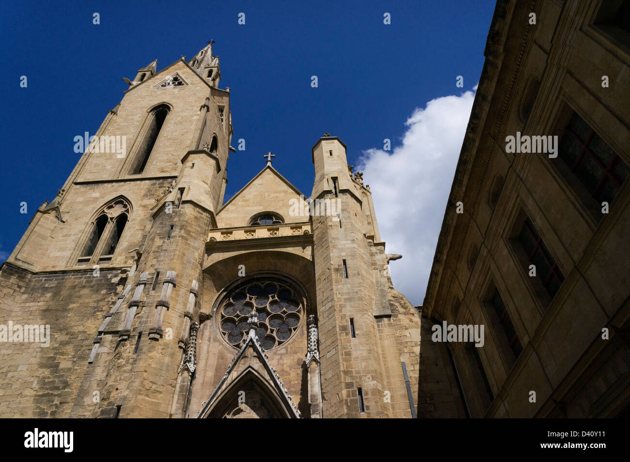 Saint-Jean-de-Malte church, Aix-en-Provence, France - Stock Image