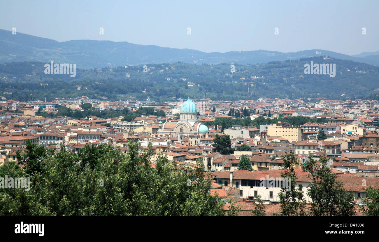 The Great Synagogue. Tempio Maggiore. Florence, Italy. Stock Photo
