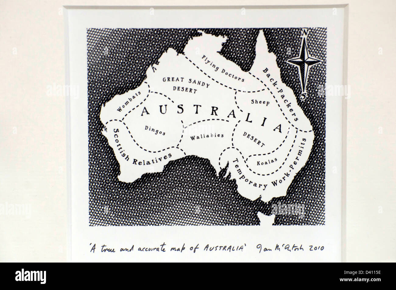 Amusing map of australia from a scottish point of view in a shop amusing map of australia from a scottish point of view in a shop in edinburgh scotland gumiabroncs Choice Image