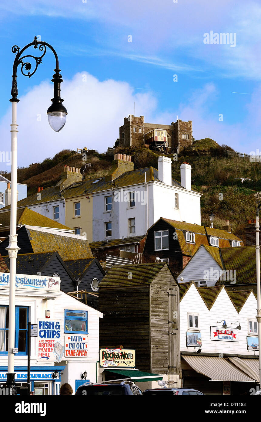 Shop in Old Hastings town Sussex UK - Stock Image