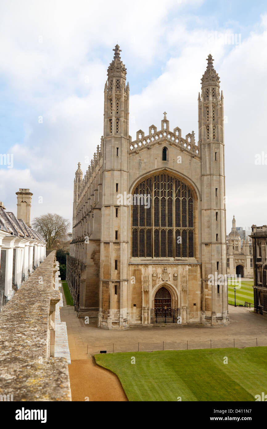 Kings College Chapel, Cambridge University, England, UK - Stock Image