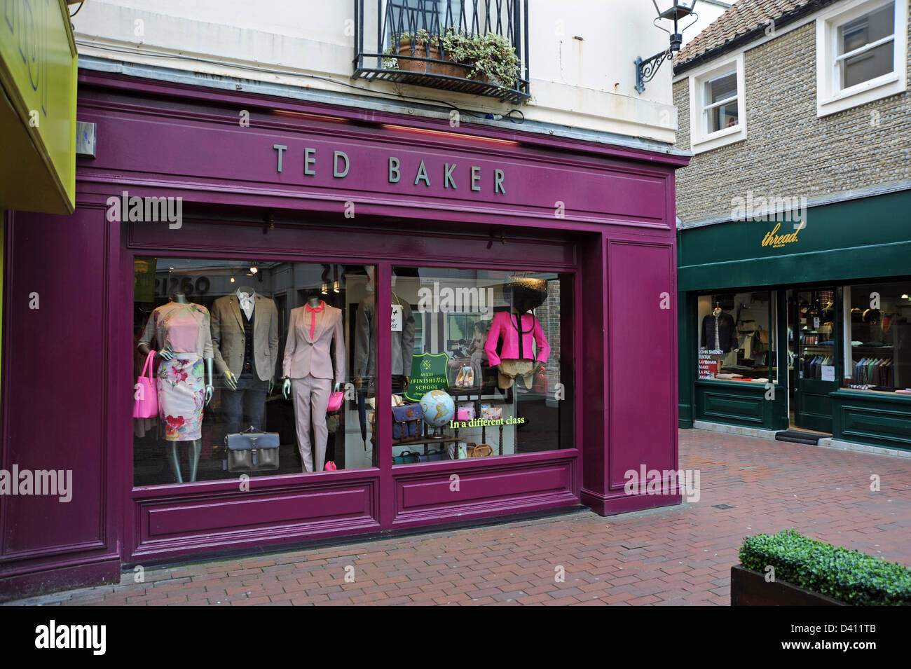 8e02a6fbe18f9a The Ted Baker fashion store Dukes Lane in Brighton s Lanes district - Stock  Image
