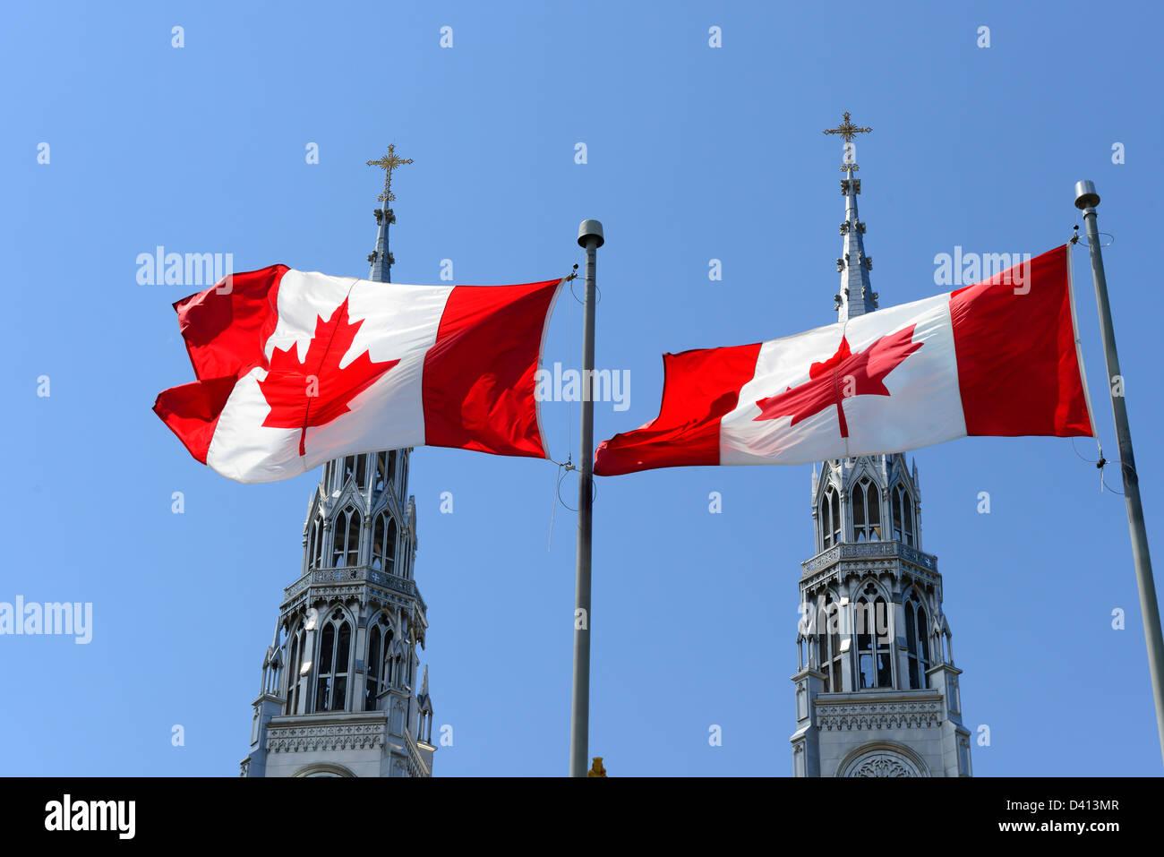 Notre Dame Roman Catholic Cathedral Basilica Ottawa Ontario Canada National Capital City - Stock Image