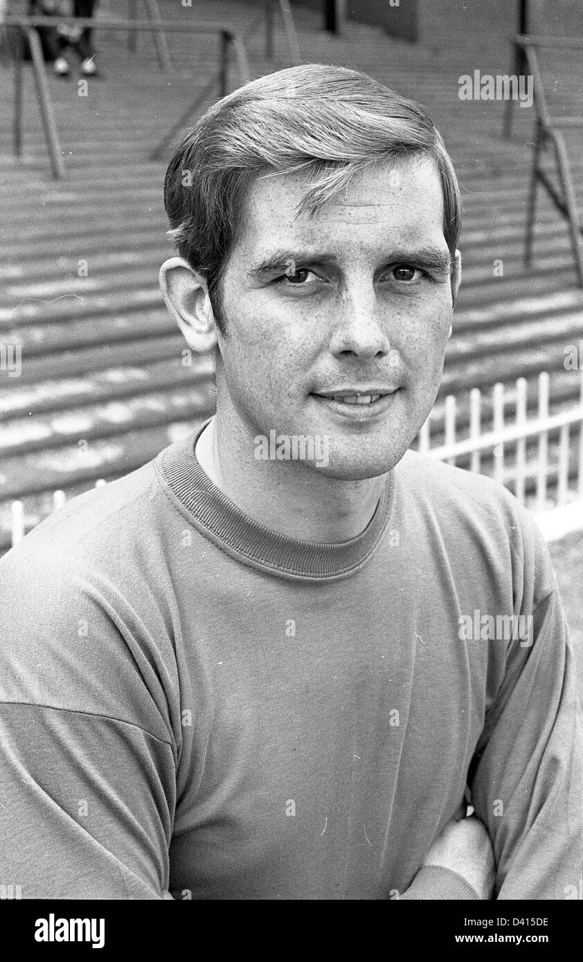 John Dunn Aston Villa FC footballer 1968 . - Stock Image