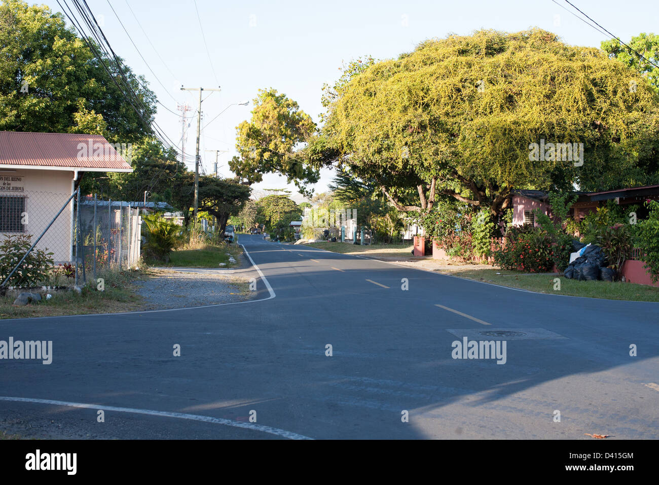 Residential road in Penonome, Panama. - Stock Image