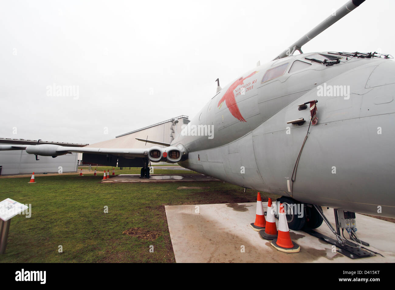 Nimrod R.1 original design was the De Havilland Comet airliner. Maritime Patrol aircraft. Three were modified for - Stock Image