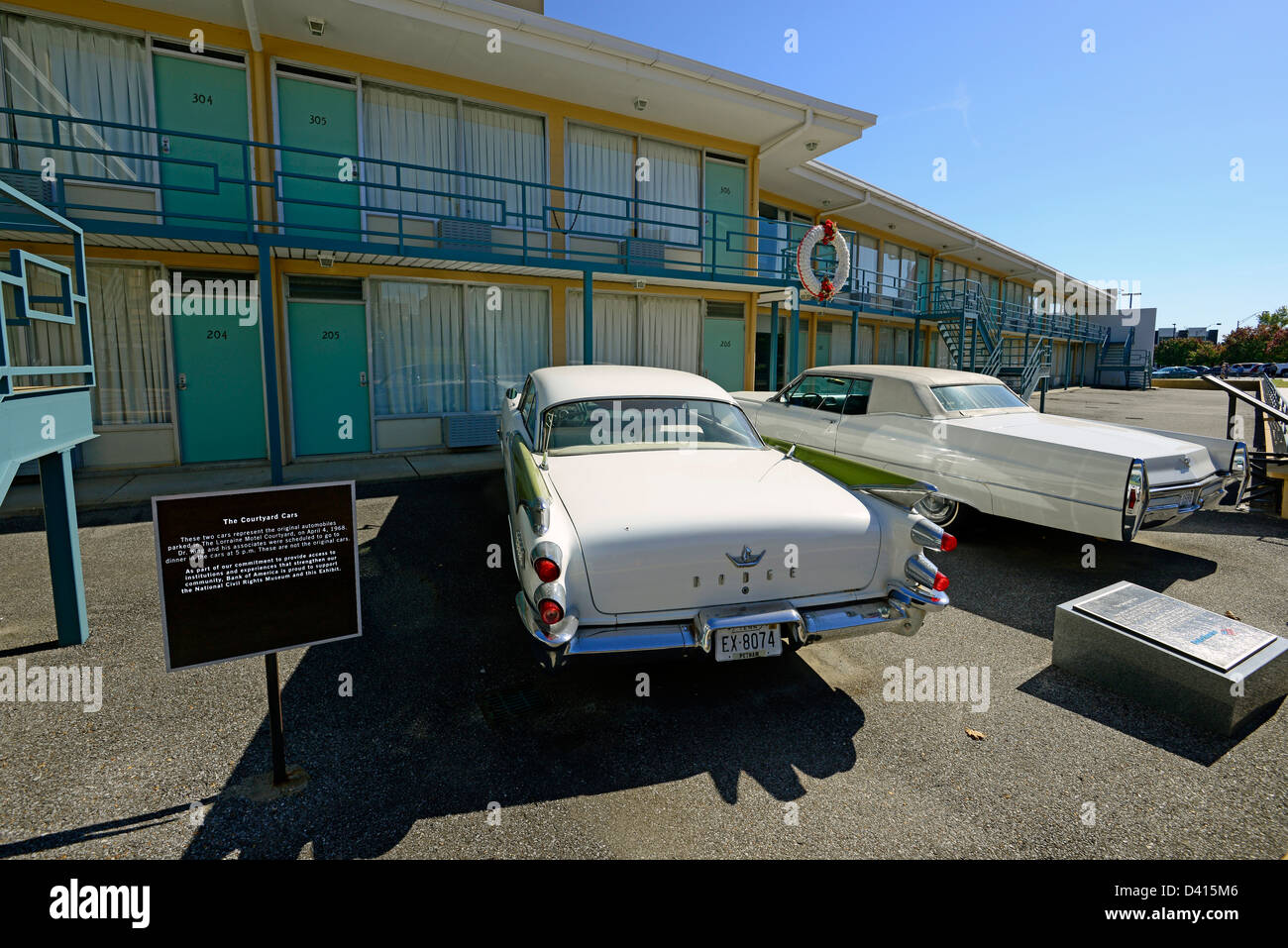 Courtyard Cars Lorraine Motel Martin Luther King Assassination Stock ...