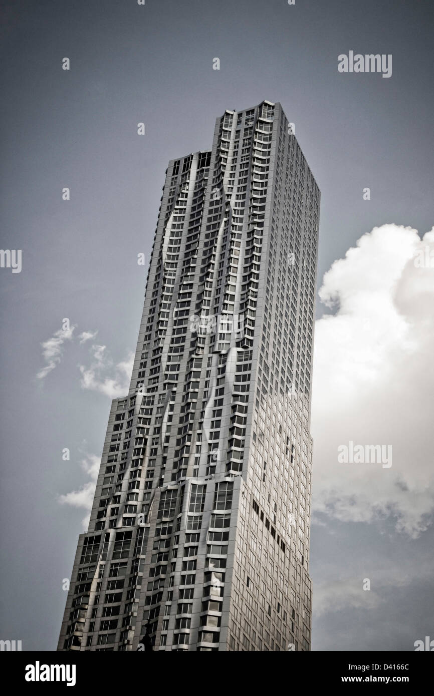 Beekman Tower by architect Frank Gehry, Manhattan, New York, USA, - Stock Image