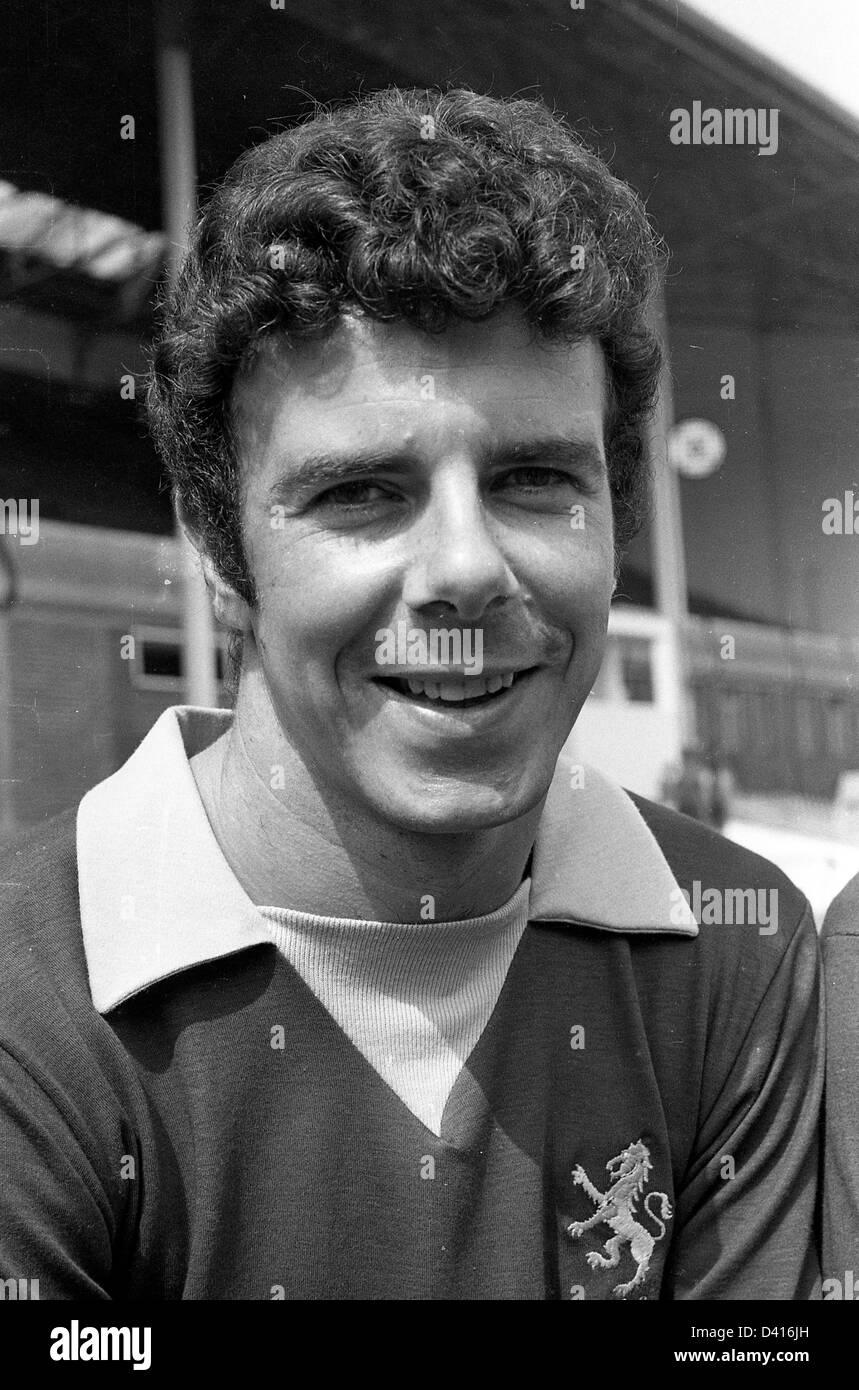 Charlie Aitken Aston Villa FC footballer 1969 - Stock Image