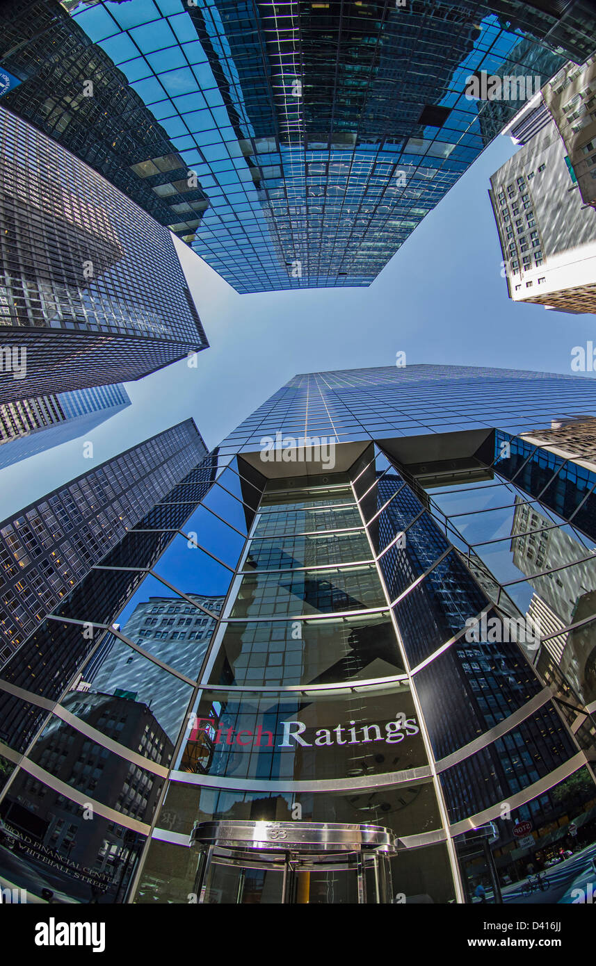 Headquarter Fitch Ratings Manhattan, Financial District, NYC,  - Stock Image
