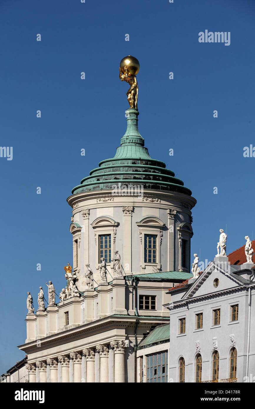 Old twon hall at old market place, , Potsdam, Brandenburg, Germany - Stock Image