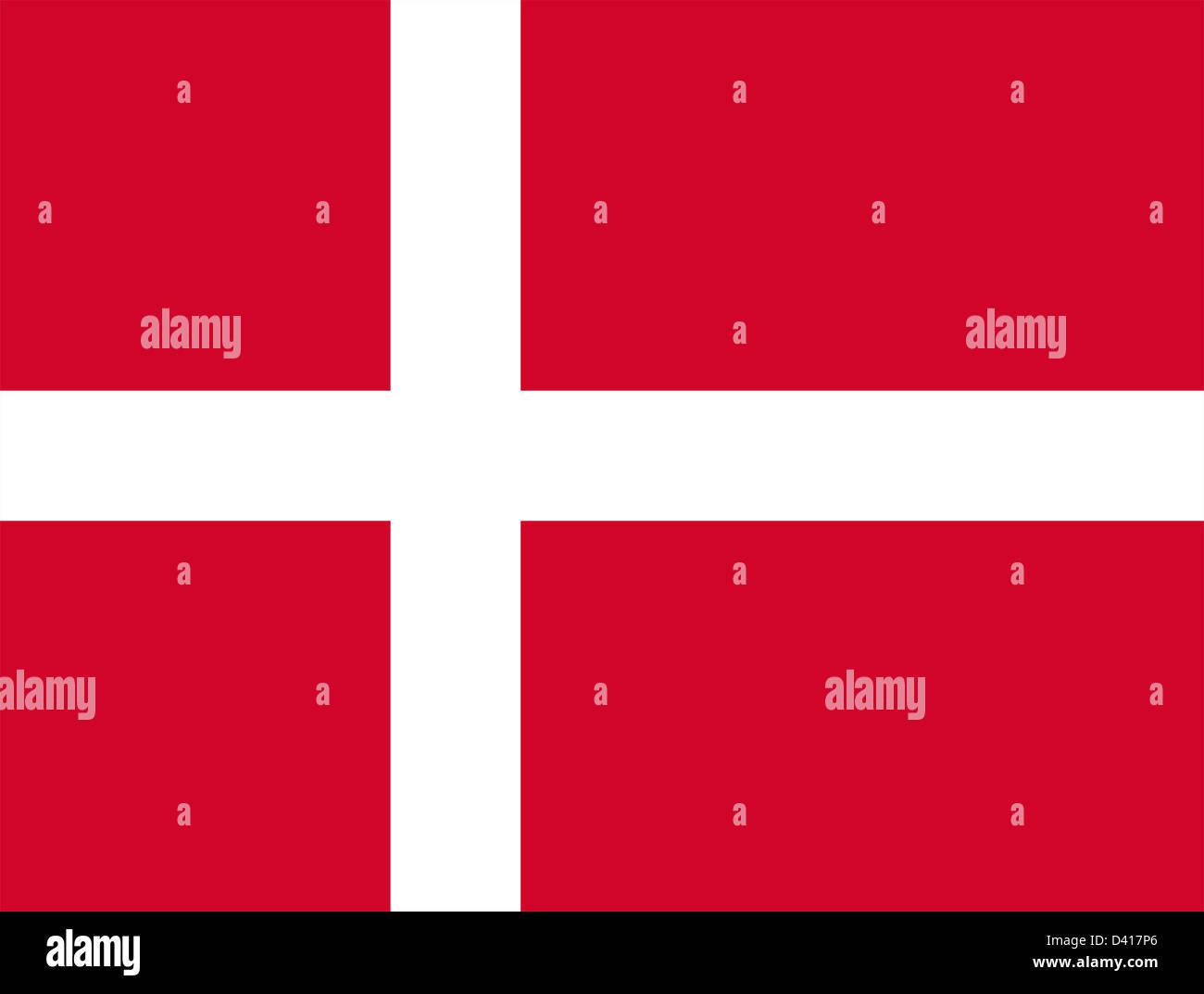 Flag of Denmark. - Stock Image