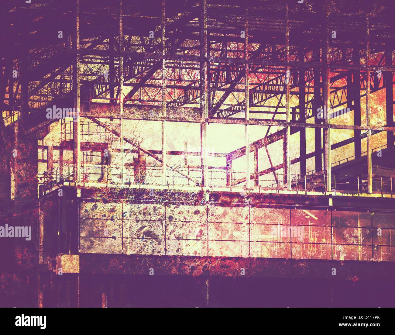 grunge construction - Stock Image