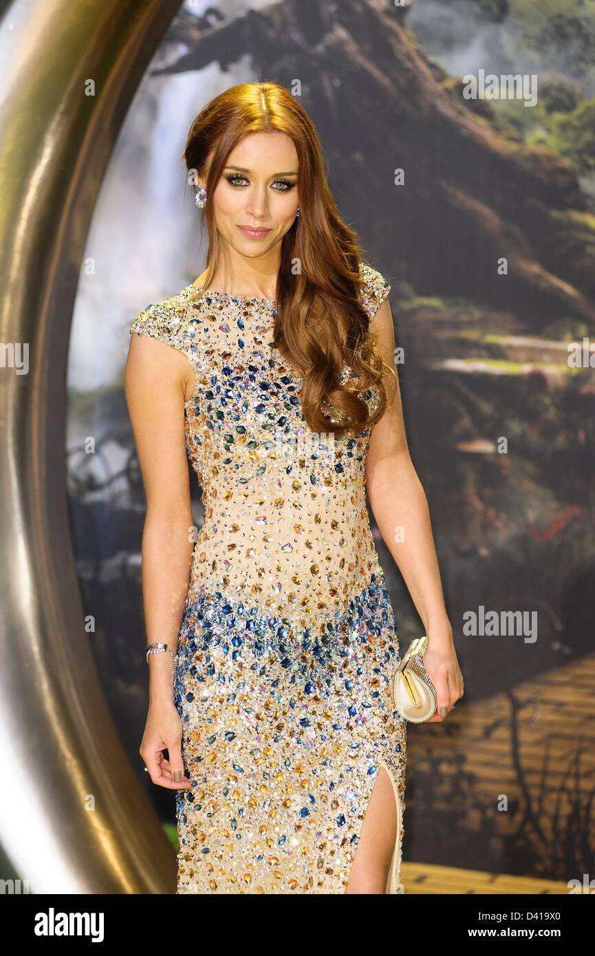Una Healy of the Saturdays attends the Oz the Great and Powerful European Premiere on 28/02/2013 at Empire Leicester - Stock Image