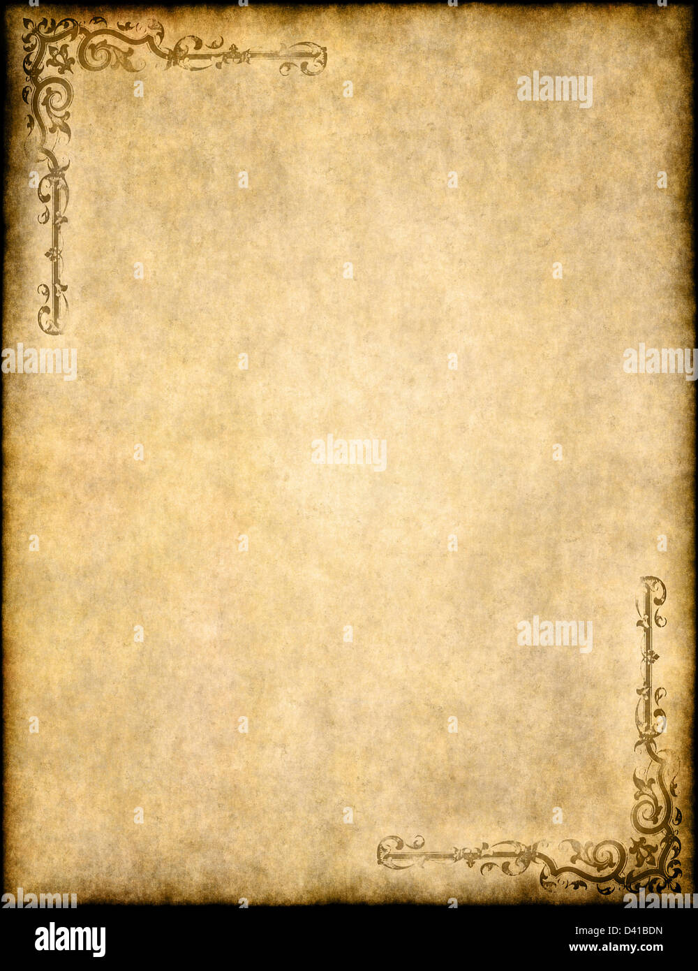great background of old parchment paper texture with ...