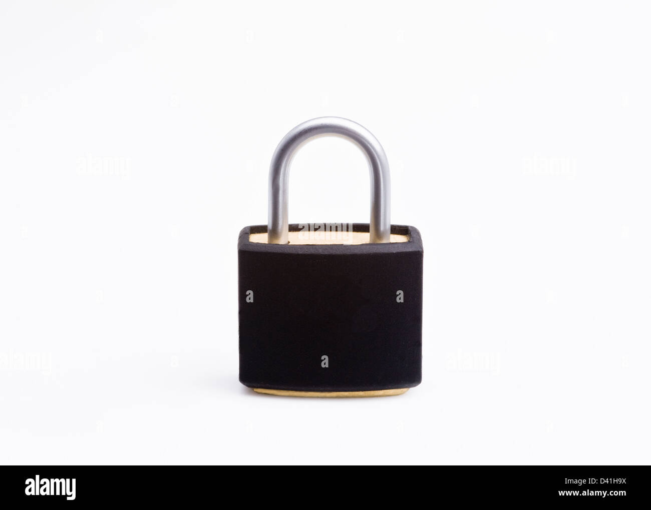 Closed padlock.locked fastened - Stock Image